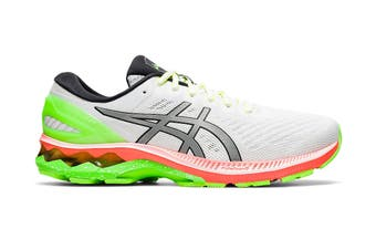 ASICS Men's Gel-Kayano 27 Lite-Show Running Shoe (White/Pure Silver, Size 14 US)