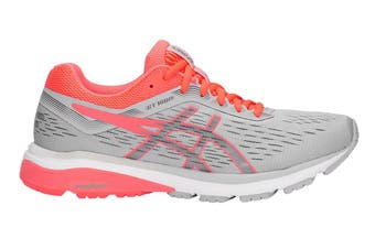 ASICS Women's GT-1000 7 Running Shoe (Mid Grey/Flash Coral)