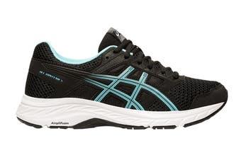 ASICS Women's Gel-Contend 5 Running Shoe (Black/Ice Mint, Size 6 US)