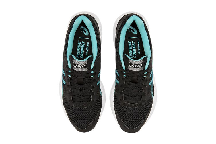 ASICS Women's Gel-Contend 5 Running Shoe (Black/Ice Mint, Size 7 US)