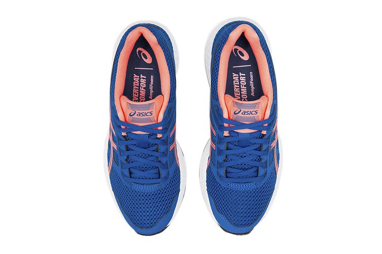 ASICS Women's Gel-Contend 5 Running Shoe (Lake Drive/Sun Coral, Size 7.5 US)