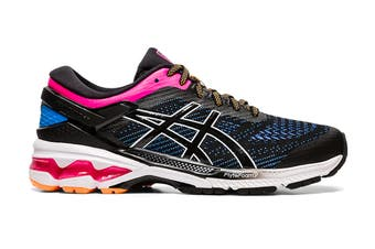 ASICS Women's Gel-Kayano 26 Running Shoe (Black/Blue Coast, Size 7 US)