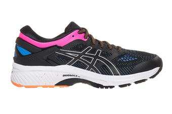 ASICS Women's Gel-Kayano 26 Running Shoe (Black/Blue Coast, Size 6 US)