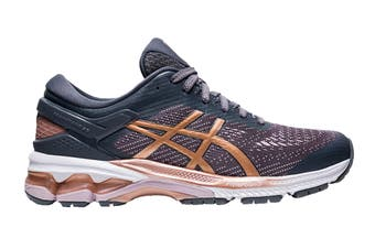 ASICS Women's Gel-Kayano 26 Running Shoe (Metropolis/Rose Gold)