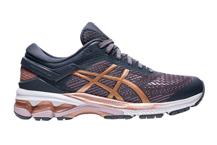ASICS Women's Gel-Kayano 26 Running Shoe (Metropolis/Rose Gold, Size 9 US)
