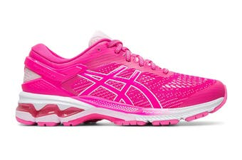 ASICS Women's Gel-Kayano 26 Running Shoe (Pink Glo/Cotton Candy, Size 6.5 US)