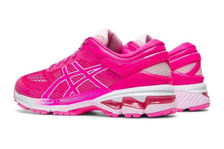 ASICS Women's Gel-Kayano 26 Running Shoe (Pink Glo/Cotton Candy, Size 8 US)