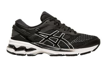 ASICS Women's Gel-Kayano 26 Running Shoe (Black/White, Size  6.5 US)