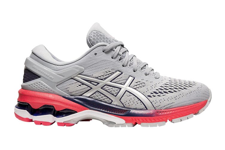 ASICS Women's Gel-Kayano 26 Running Shoe (Piedmont Grey/Silver, Size 6 US)