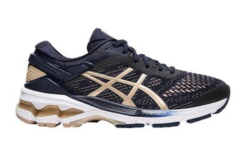 ASICS Women's Gel-Kayano 26 Running Shoe (Midnight/Frosted Almond)