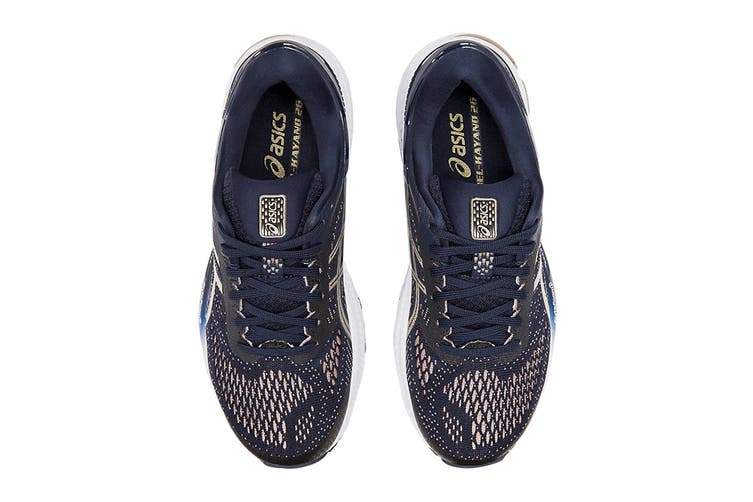 ASICS Women's Gel-Kayano 26 Running Shoe (Midnight/Frosted Almond, Size  9.5 US)