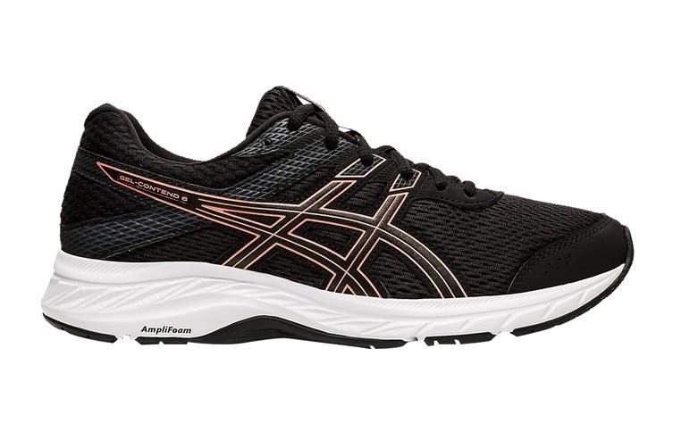 ASICS Women's Gel-Contend 6 Running Shoe (Black/Rose Gold, Size 5.5 US)