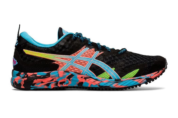 ASICS Women's Gel-Noosa Tri 12 Running Shoe (Black/Aquarium, Size 7 US)