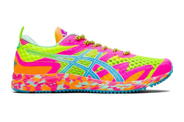ASICS Women's Gel-Noosa Tri 12 Running Shoe (Safety Yellow/Aquarium, Size 7 US)