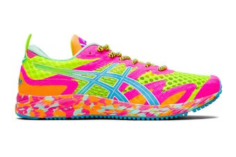 ASICS Women's Gel-Noosa Tri 12 Running Shoe (Safety Yellow/Aquarium, Size 8.5 US)