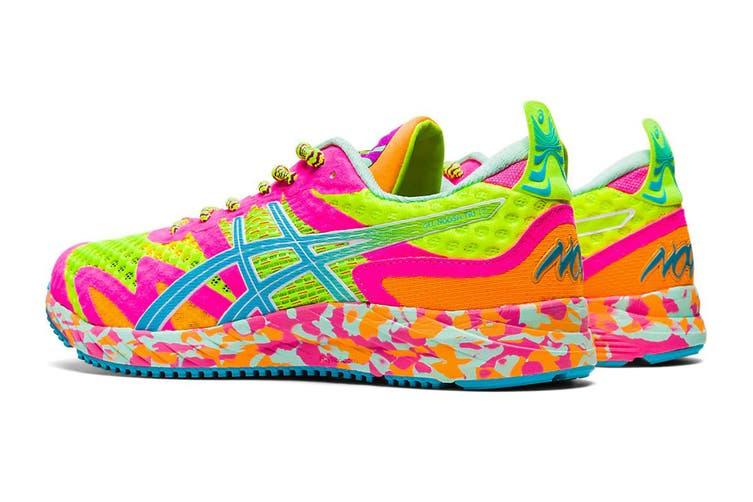 ASICS Women's Gel-Noosa Tri 12 Running Shoe (Safety Yellow/Aquarium, Size 8 US)