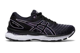 ASICS Women's Gel-Nimbus 22 Running Shoe (Black/Lilac Tech, Size 10 US)