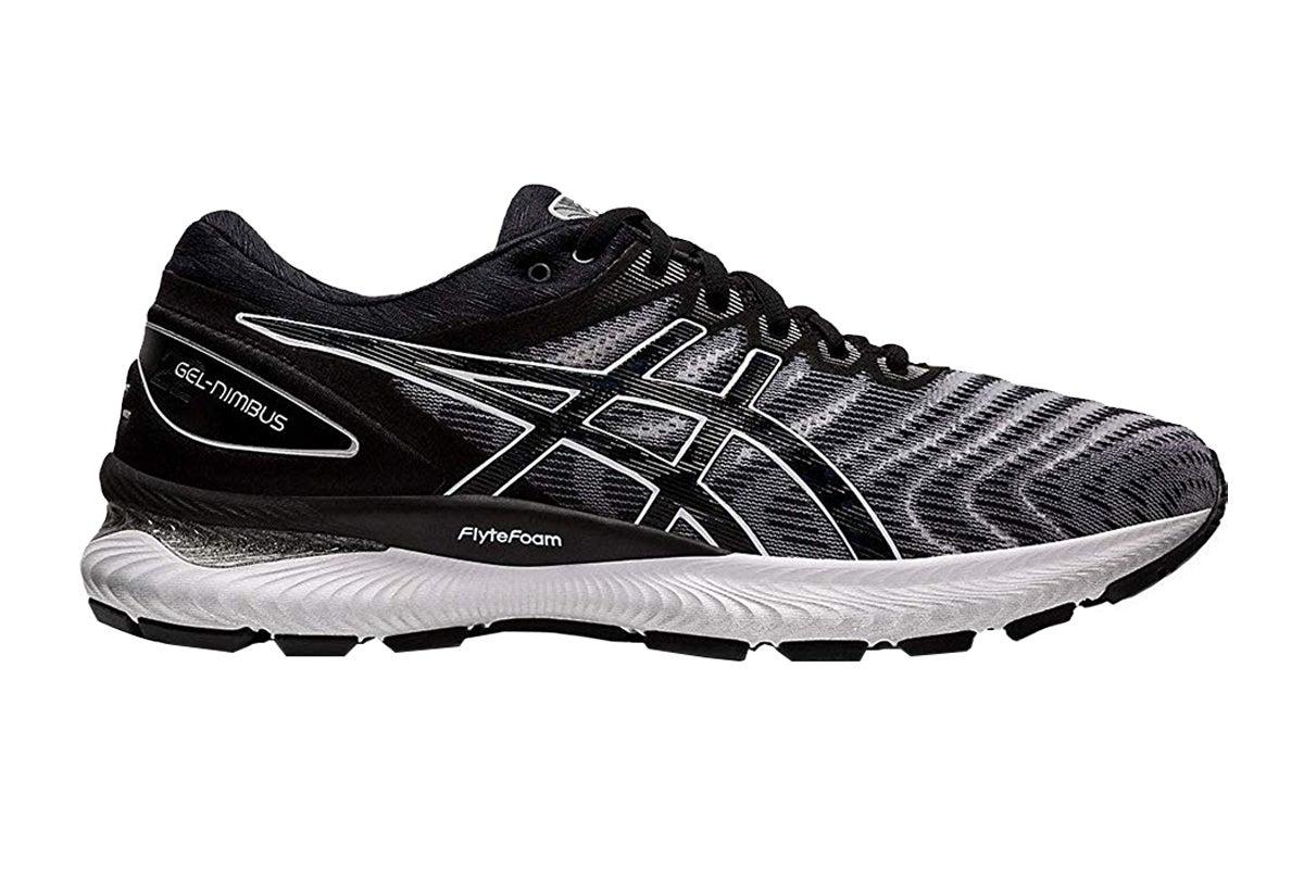 ASICS Women's Gel-Nimbus 22 Running Shoe (White/Black, Size 6 US)