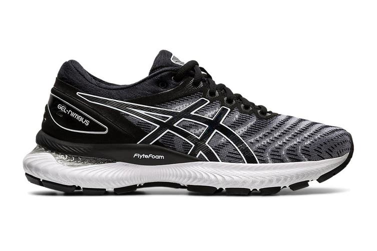 ASICS Women's Gel-Nimbus 22 Running Shoe (White/Black, Size 7 US)