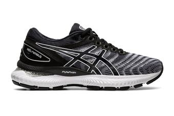 ASICS Women's Gel-Nimbus 22 Running Shoe (White/Black, Size 8 US)