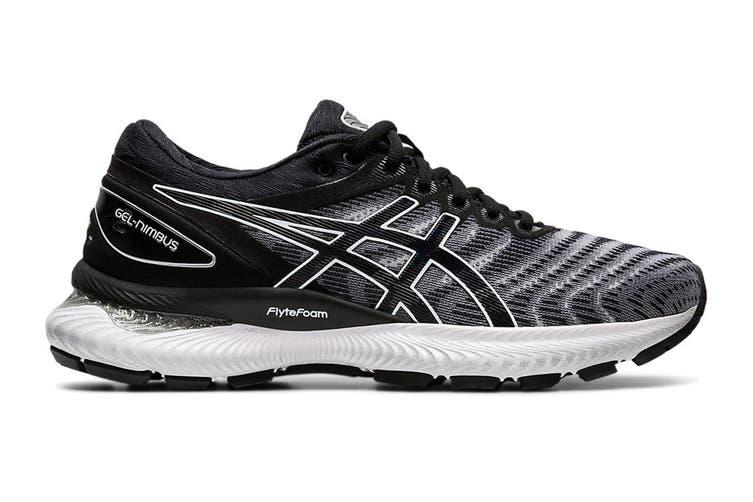 ASICS Women's Gel-Nimbus 22 Running Shoe (White/Black, Size 8 US)