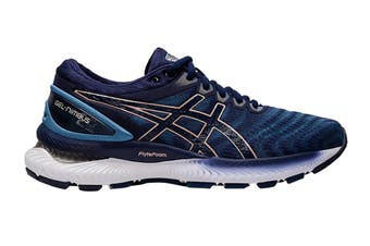 ASICS Women's Gel-Nimbus 22 Running Shoe (Grey Floss/Peacoat, Size 10.5 US)