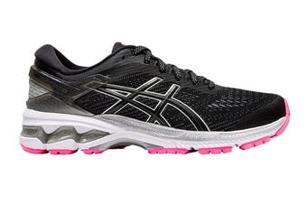 ASICS Women's Gel-Kayano 26 Lite-Show Running Shoe (Black Grey Pink)