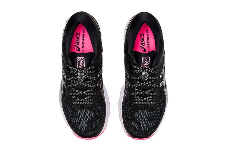 ASICS Women's Gel-Kayano 26 Lite-Show Running Shoe (Black Grey Pink, Size 7.5 US)