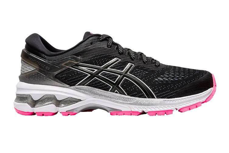 ASICS Women's Gel-Kayano 26 Lite-Show Running Shoe (Black Grey Pink, Size 8.5 US)