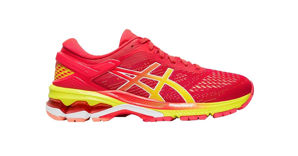 ASICS Women's Gel-Kayano 26 Running Shoe (Laser Pink/Sour ...