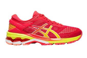 ASICS Women's Gel-Kayano 26 Running Shoe (Laser Pink/Sour Yuzu, Size  9 US)