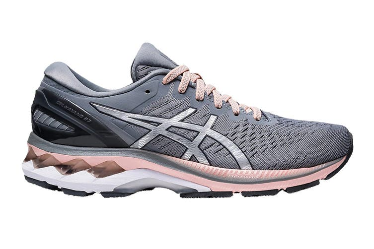 ASICS Women's Gel-Kayano 27 Running Shoe (Sheet Rock/Pure Silver, Size 6.5 US)