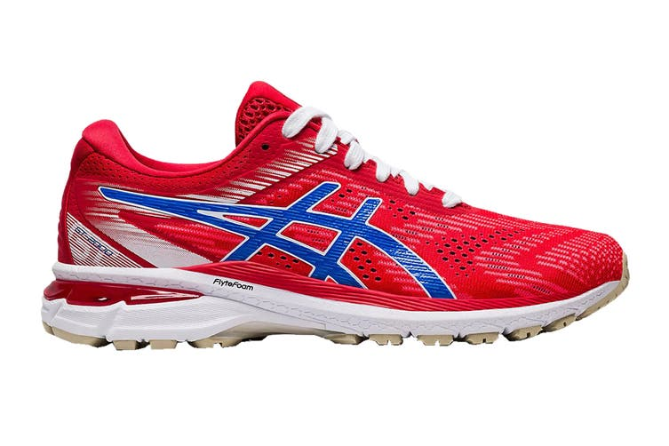 ASICS Women's GT-2000 8 Running Shoe (Classic Red/Electric Blue, Size 6.5 US)
