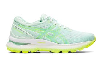 ASICS Women's Gel-Nimbus 22 Modern Tokyo Running Shoe (Mint Tint/Safety Yellow, Size 7 US)