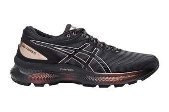 ASICS Women's Gel-Nimbus 22 Platinum Running Shoe (Black/Rose Gold)