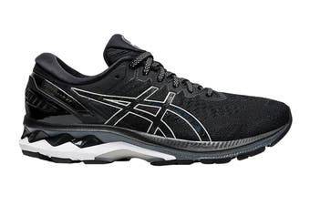 ASICS Women's Gel-Kayano 27 (D Wide) Running Shoe (Black/Pure Silver, Size 7 US)