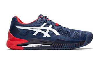 ASICS Men's Gel-Resolution 8 Clay Tennis Shoe (Peacoat/White, Size 9.5 US)