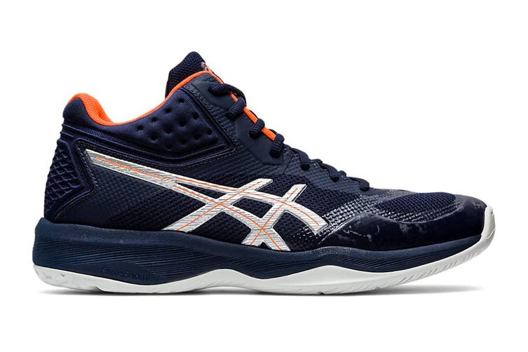 ASICS Men's Netburner Ballistic Ff Mt Court Shoe (Midnight/Pure Silver, Size 10 US)