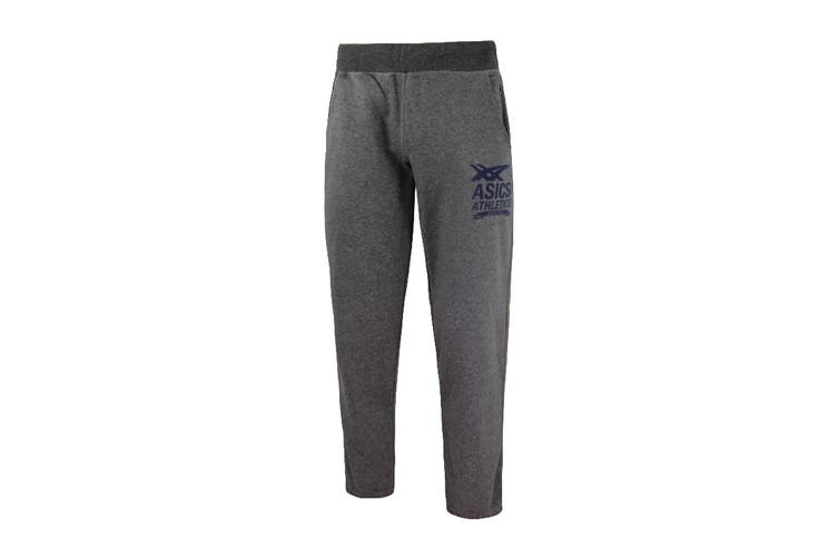 ASICS Men's Cuffed Knit Pants (Grey, Size L)