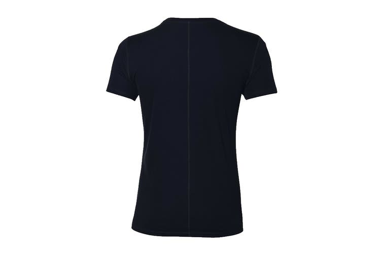 ASICS Men's Running Silver Short Sleeve Top (Performance Black, Size S)
