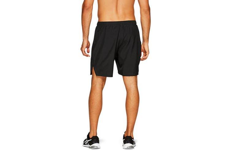 ASICS Men's Running Silver 2-In-1 Shorts (Performance Black, Size L)