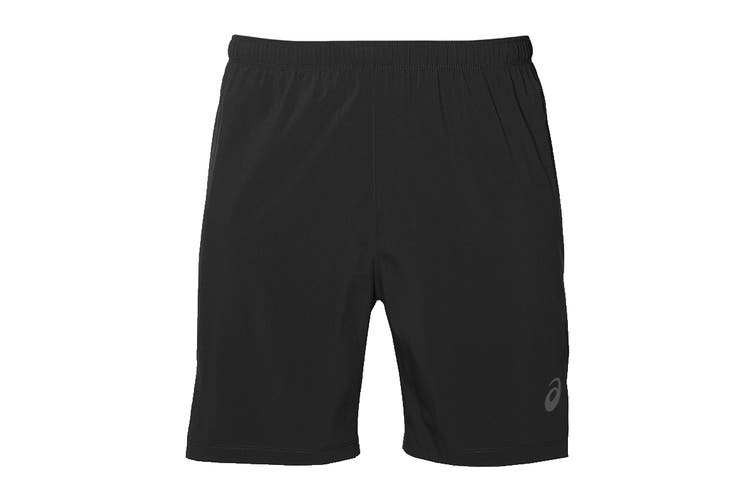 ASICS Men's Running Silver 2-In-1 Shorts (Performance Black, Size S)