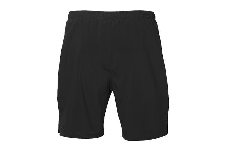 ASICS Men's Running Silver 2-In-1 Shorts (Performance Black, Size XXL)