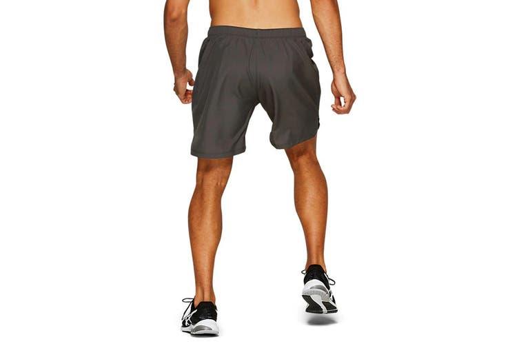 ASICS Men's Running Silver 2-In-1 Shorts (Dark Grey, Size M)