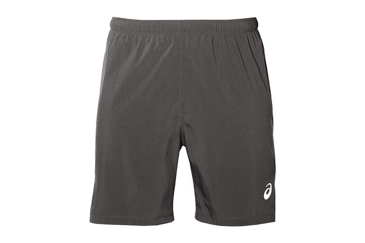 ASICS Men's Running Silver 2-In-1 Shorts (Dark Grey, Size S)