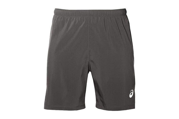 ASICS Men's Running Silver 2-In-1 Shorts (Dark Grey, Size XXL)