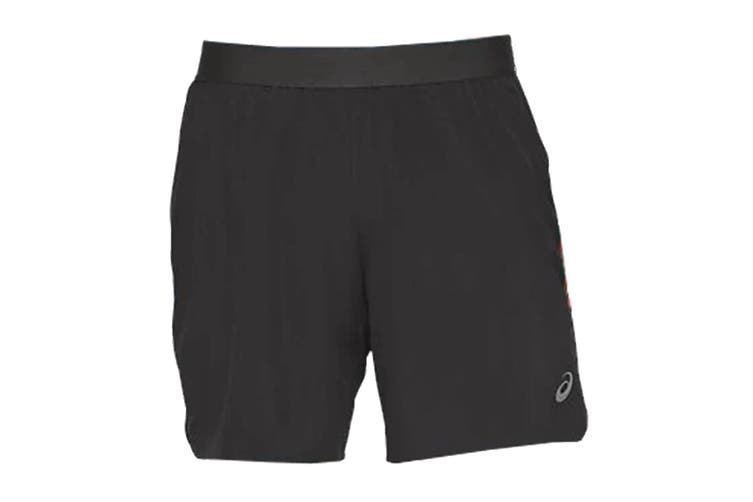 ASICS Men's Road 2-N-1 Shorts (Graphite Grey, Size S)