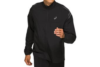 ASICS Men's Running Icon Jacket (Performance Black, Size XXL)