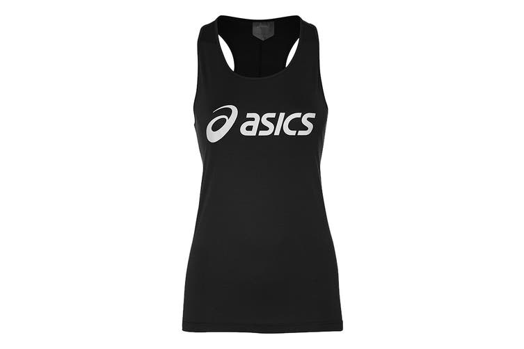ASICS Women's Running Silver Tank (Brilliant White / Performance Black, Size M)