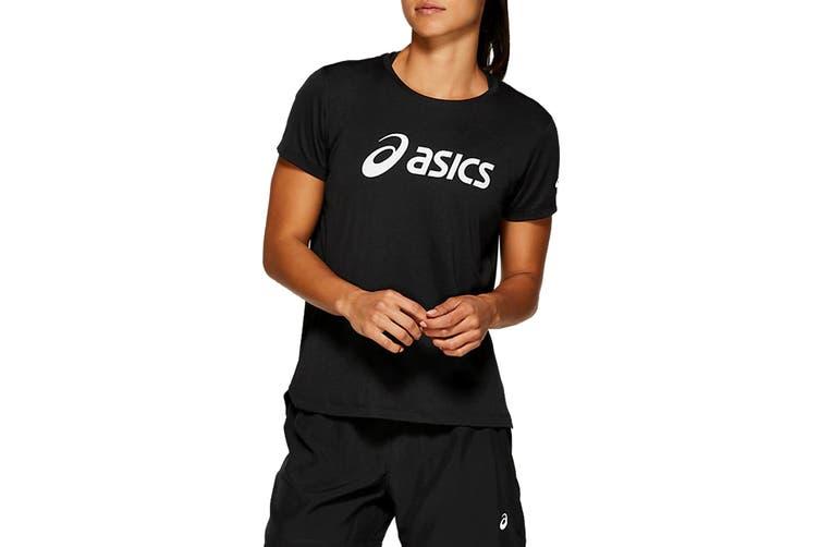 ASICS Women's Silver Top (Performance Black/Brilliant White, Size S)